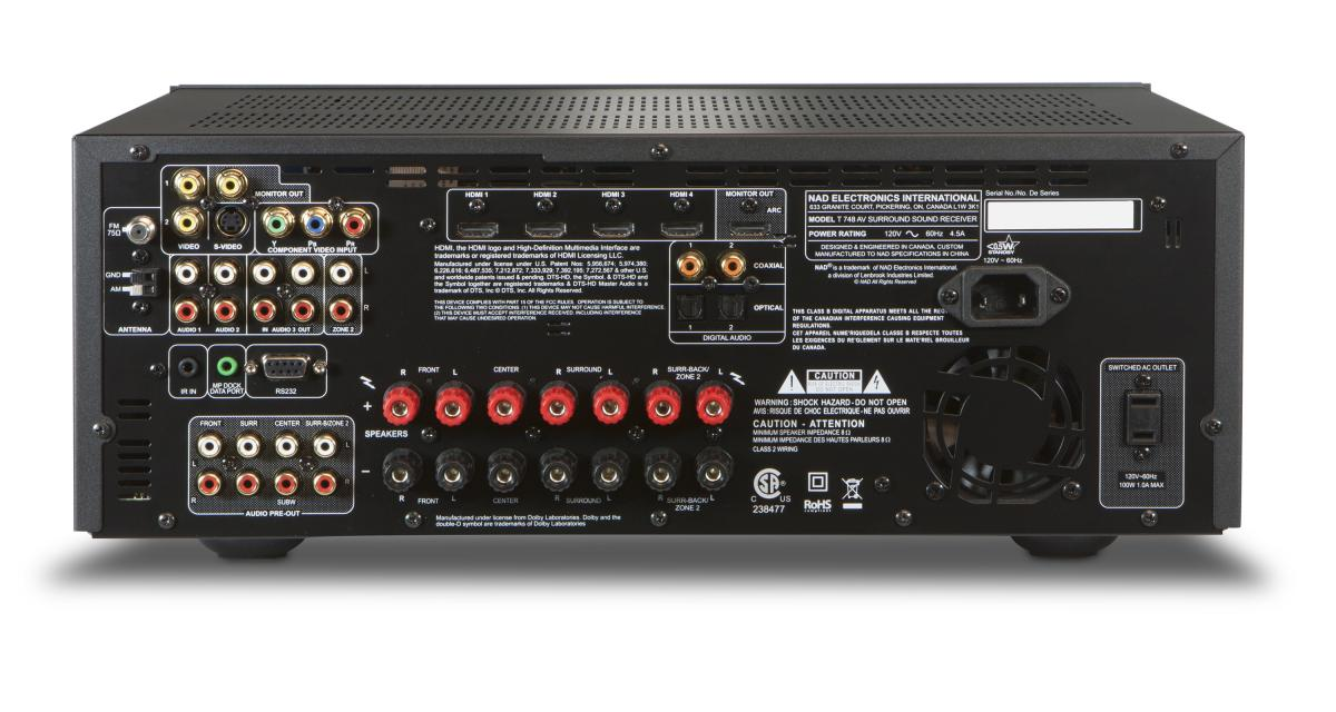 t 748 v2 nad electronics rh nadelectronics com Nad Power Amplifier Nad 7045 Schematic