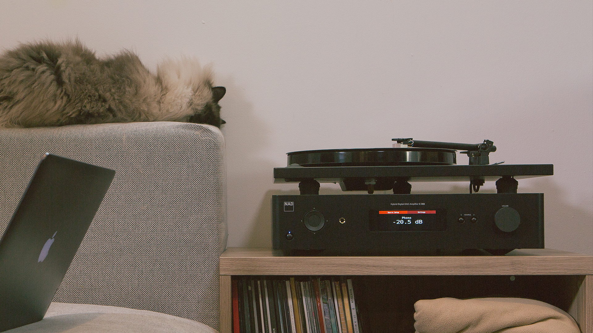 NAD C 368 and turntable