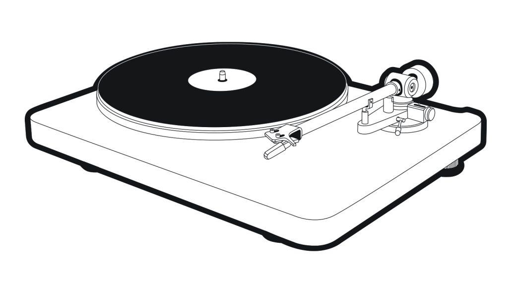 NAD C 558 turntable illustration