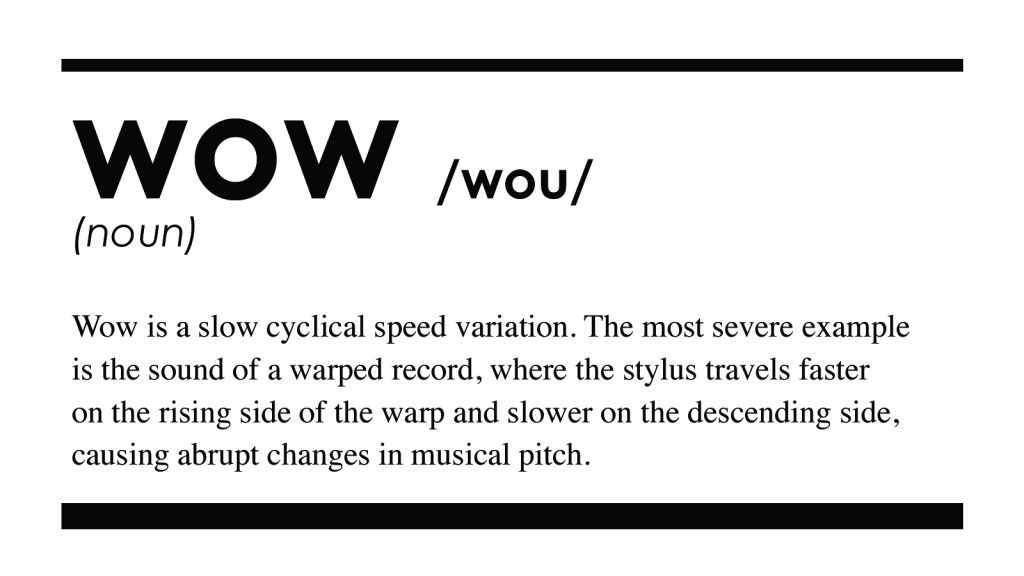 Wow audio definition