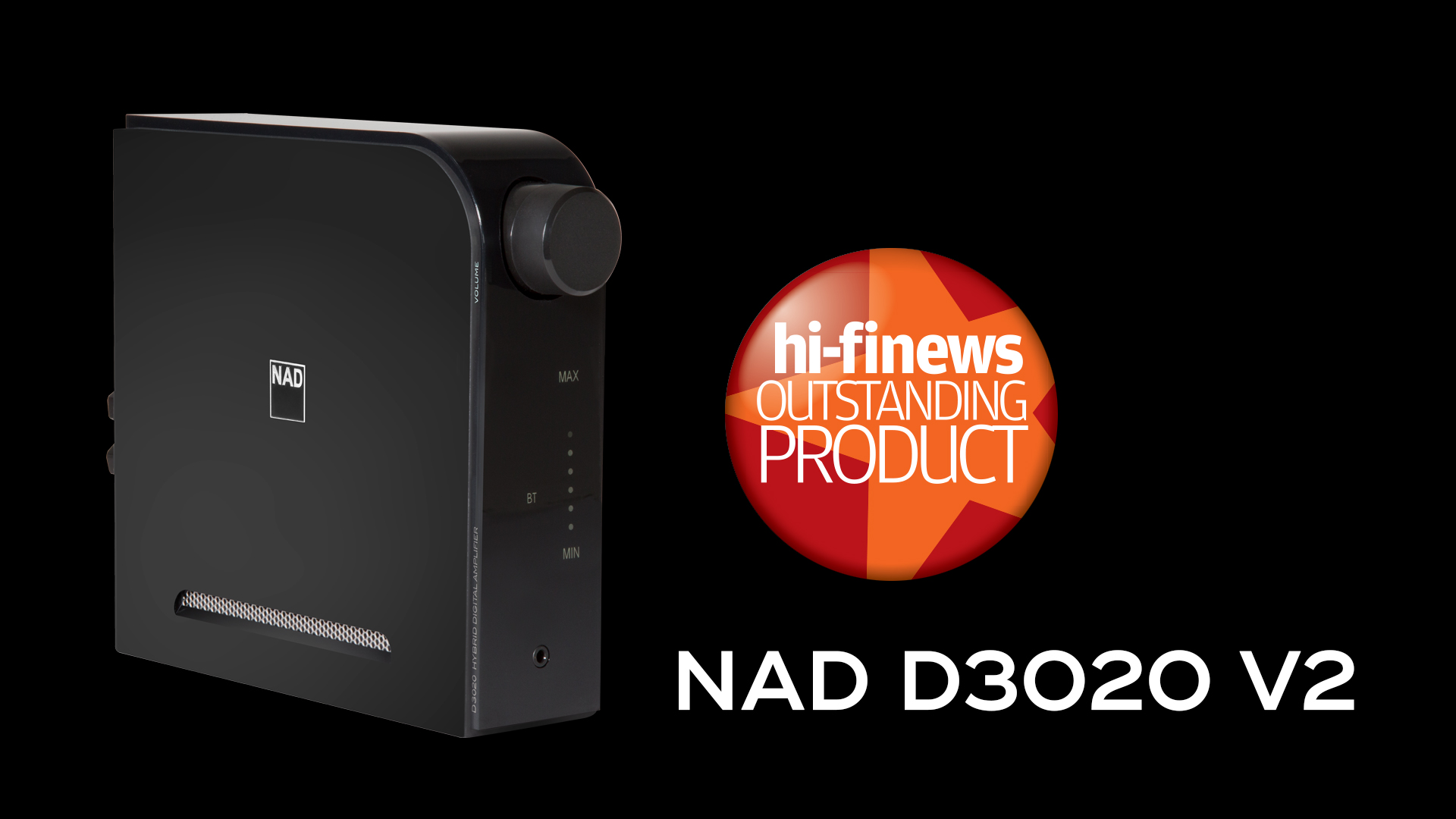 NAD D 3020 V2 HiFi News Outstanding Product Award