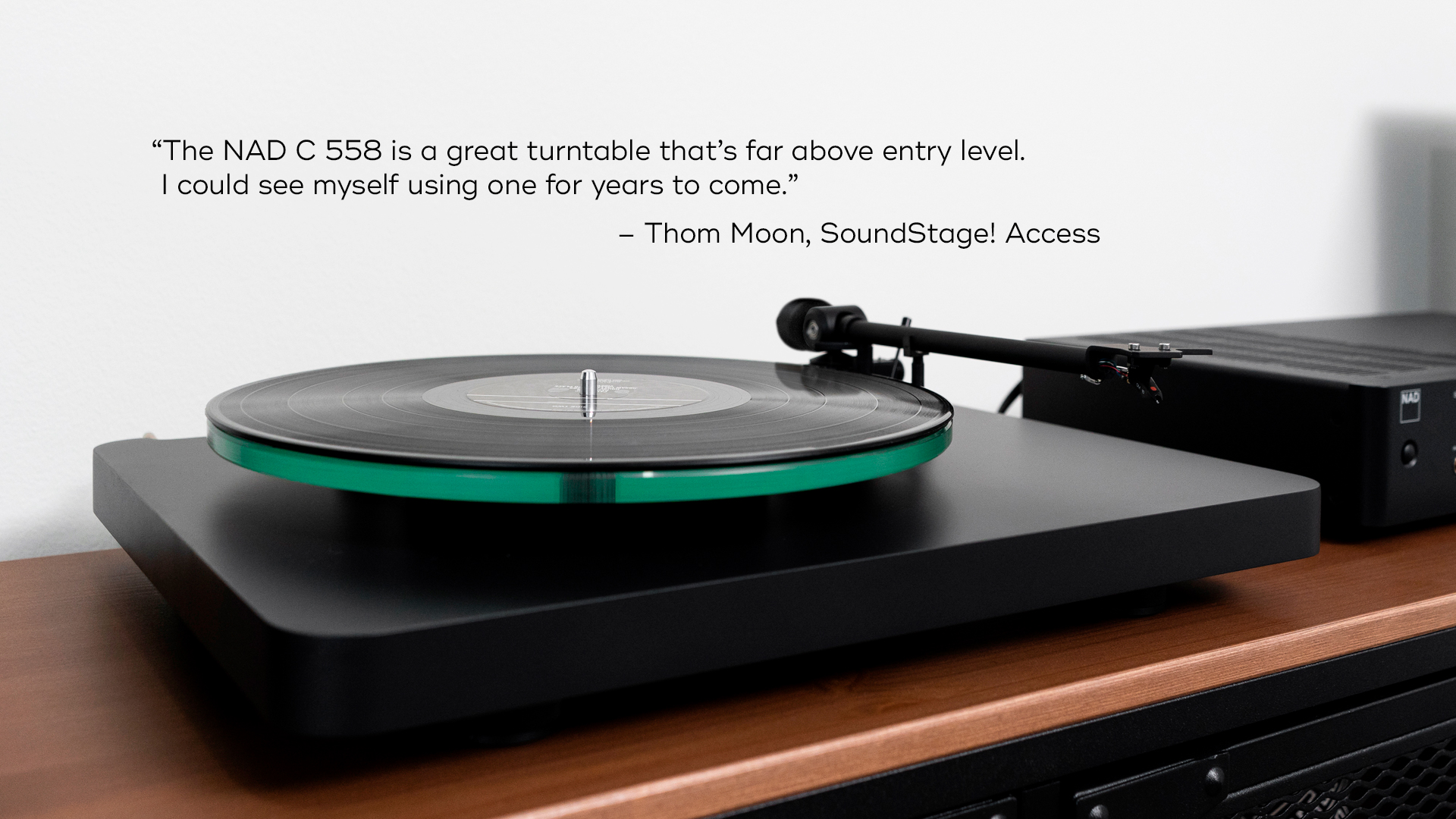 NAD C 558 Turntable SoundStage Review lifestyle image