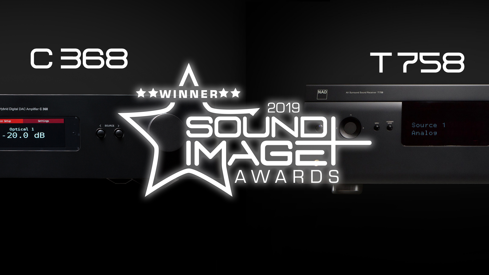 NAD C 368 T 758 V3 Sound and Image 2019 Award
