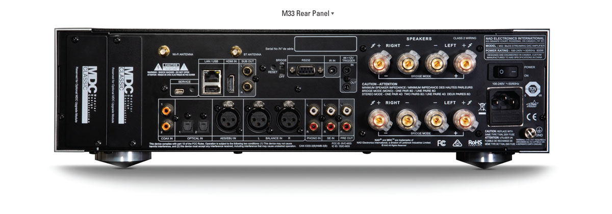 NAD M33 Amplifier Rear