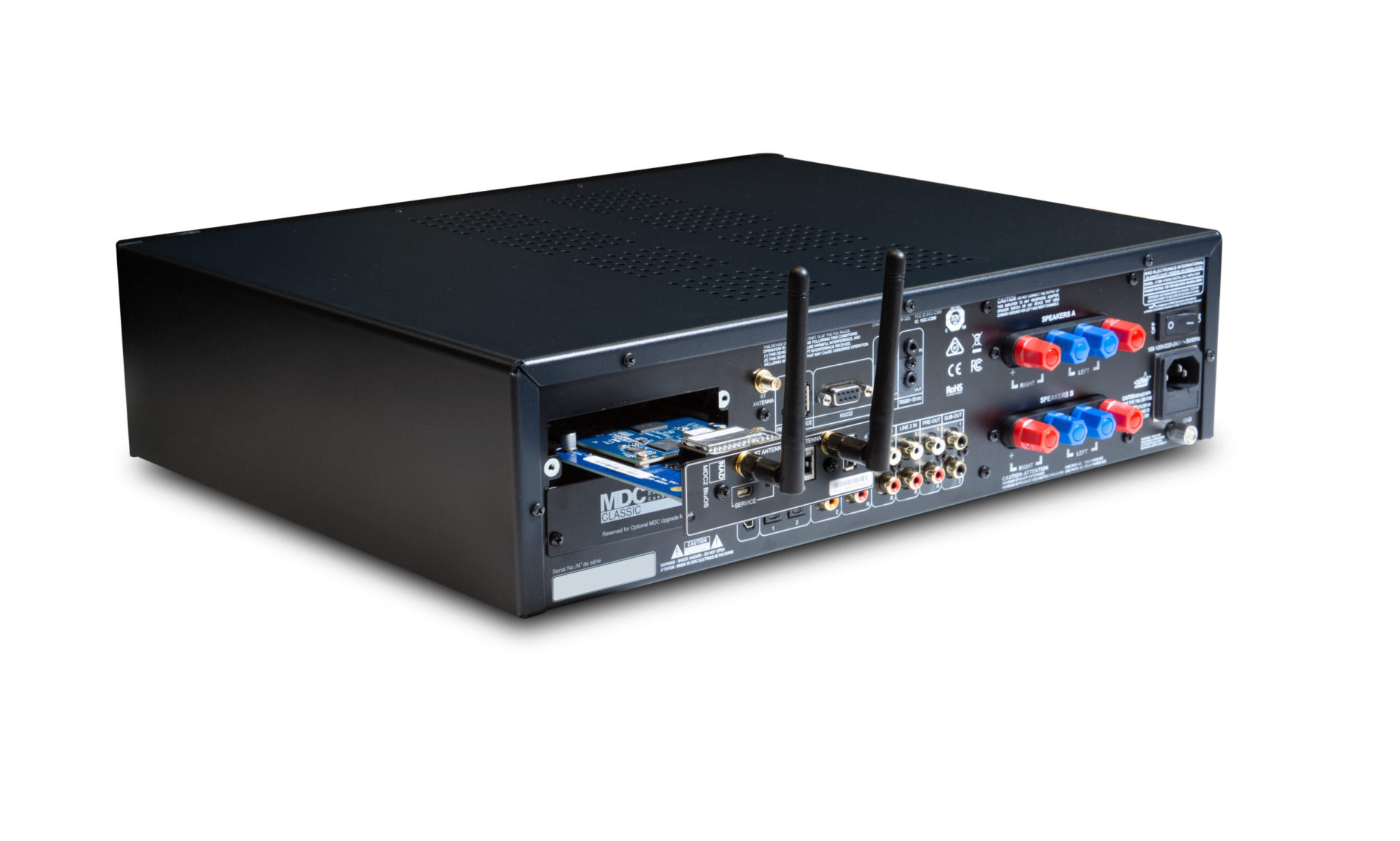 NAD C 399 with MDC card and installed antennas